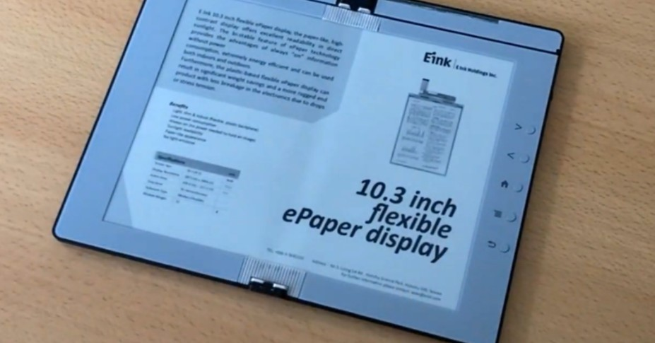 E Ink demos a folding e-reader that can also take notes
