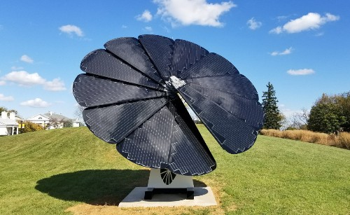 Flower-shaped solar panel now sold in the U.S.
