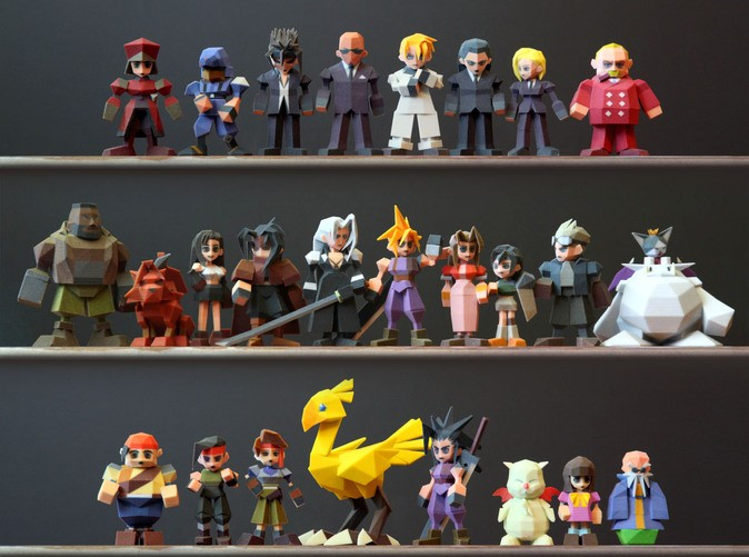 3D-printed 'Final Fantasy VII' figurines are polygon-perfect