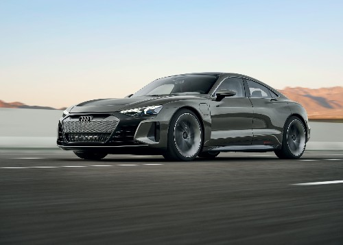 Audi's E-Tron GT concept is a 590-horsepower electric sedan powered by Porsche
