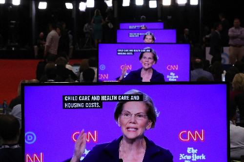 Most Democrats refuse to back Elizabeth Warren's big tech break up plan on the debate stage