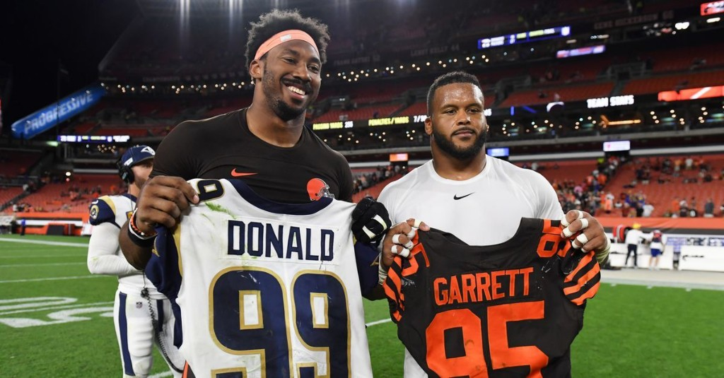 Myles Garrett eclipses Aaron Donald in salary on new contract