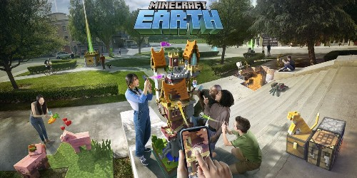 Microsoft demos Minecraft Earth at Apple's WWDC event