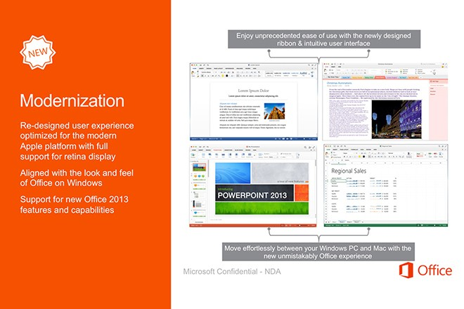 Leaked Office for Mac 2015 screenshots look just like the Windows version