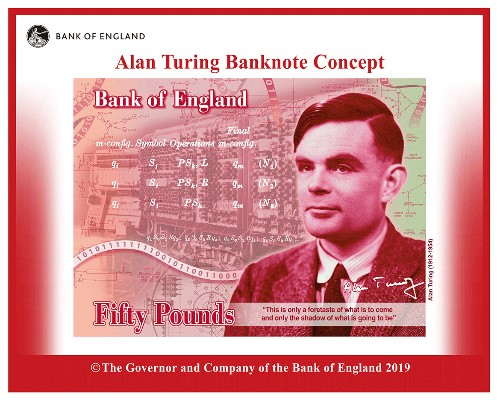Alan Turing is the face of UK's new £50 note