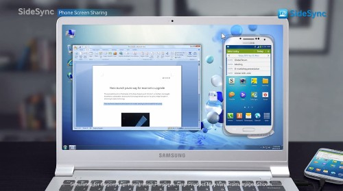 SideSync tool helps Samsung's Galaxy phones and PCs play nice together