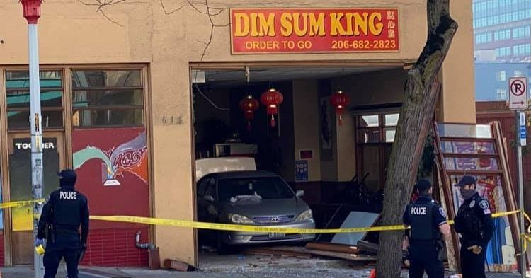 Car Crashes Into Dim Sum King in the International District, Injuring Seven