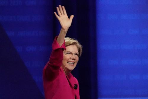 Elizabeth Warren swears off major donations from Facebook, Google executives