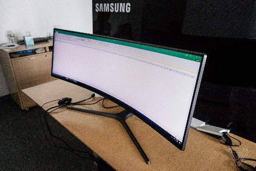Samsung's 49-inch ultrawide curved display is basically just half a TV at this point