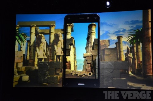 Amazon's Fire Phone uses multiple front-facing cameras to offer dynamic 3D perspective