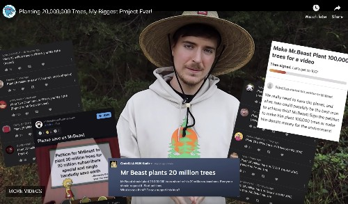 YouTubers' campaign will plant trees in California, Kenya, and India