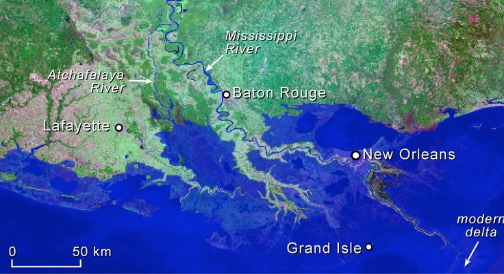 Watch how Louisiana's coastline has vanished over the last 80 years