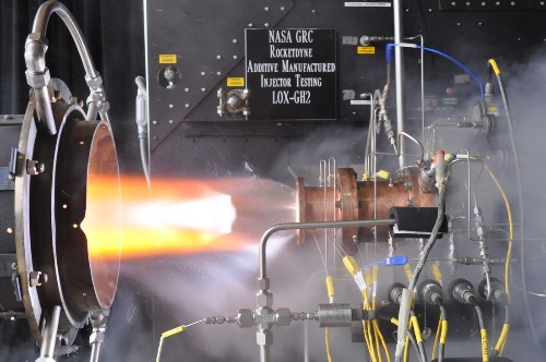 NASA's low-cost 3D-printed rocket injector withstands test firing