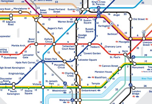 London's 'walk the Tube' map reveals the real distance between stations
