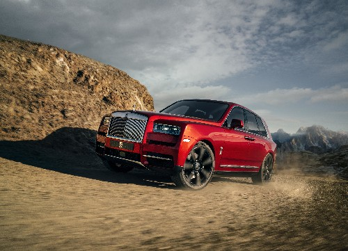Rolls-Royce suggests using its first SUV to go volcano boarding