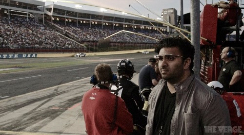 Using Google Glass: at the Indy 500 and Coca-Cola 600