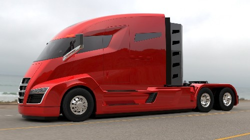 This turbine-powered electric big rig looks completely awesome, but it doesn't exist yet