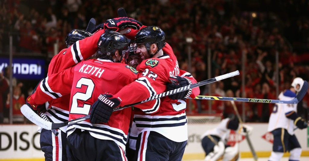 On this date in Blackhawks history: Chicago scores 4 in 3rd period to defeat Blues, move on to 2nd round