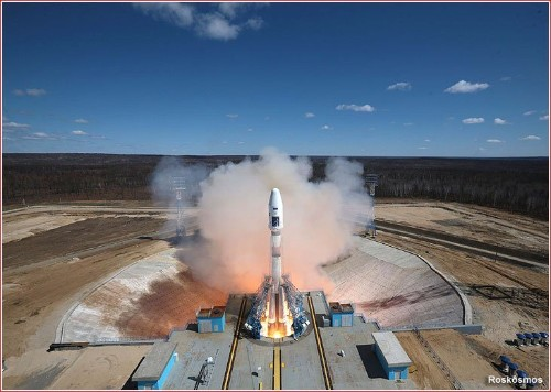 Russia launches the first rocket from its brand-new spaceport
