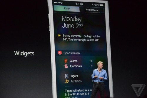 Apple will bring third-party widgets to iOS 8