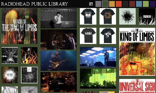 Radiohead launched an online 'public library' with rare tracks and a printable library card