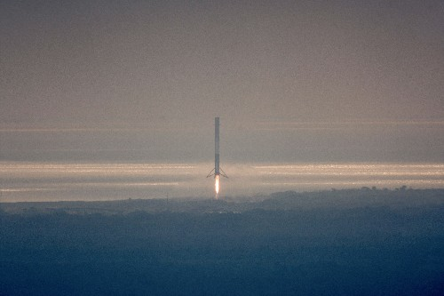SpaceX successfully lands its third Falcon 9 rocket on solid ground