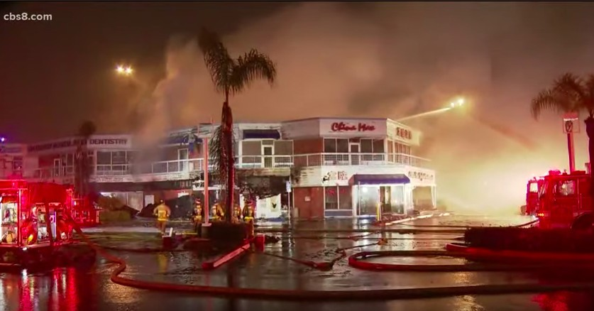 Convoy Restaurant China Max Destroyed by Fire