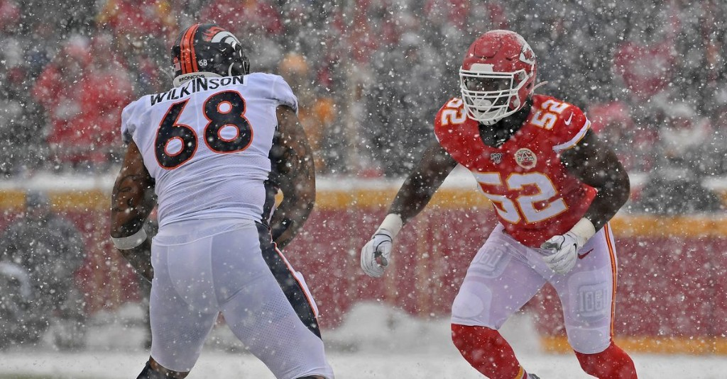 What are Denver's options at right tackle for 2020?