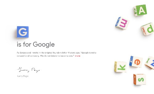 The A to Z of Alphabet, the company that now owns Google