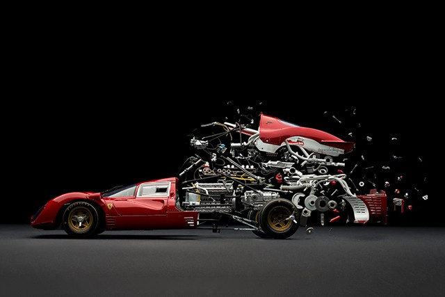 Photographer captures the explosive birth and death of model cars