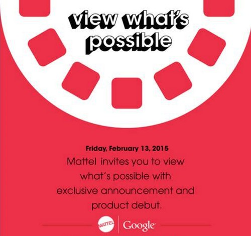 Google and Mattel will reveal a mystery product on February 13th