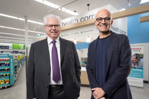 Microsoft is now helping Walgreens fend off Amazon's health care push