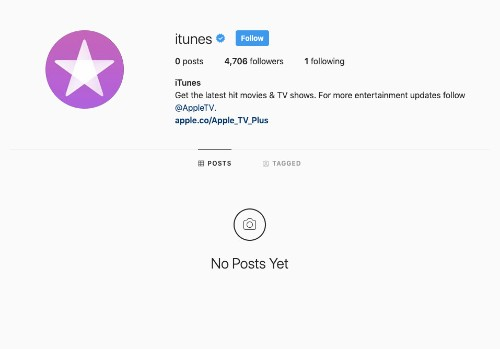 Apple has cleared out its Facebook and Instagram pages for iTunes
