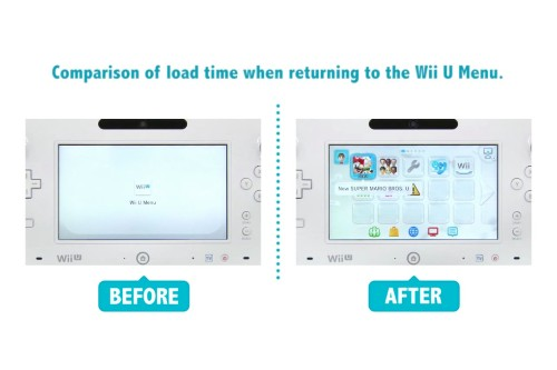 Nintendo video shows speed improvements of April Wii U software update