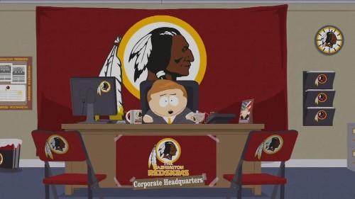 South Park runs anti 'Redskins' ad during live Washington game