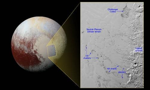 NASA discovers icebergs on Pluto