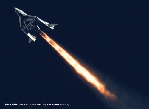 Virgin Galactic nears commercial spaceflight with second rocket-powered test run