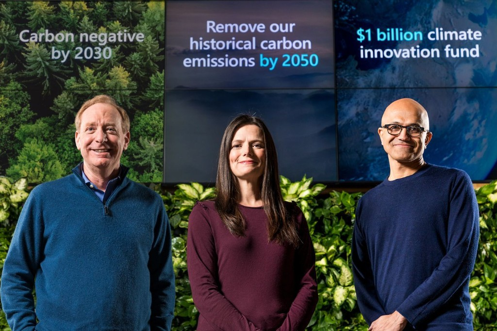 Microsoft wants to capture all of the carbon dioxide it's ever emitted