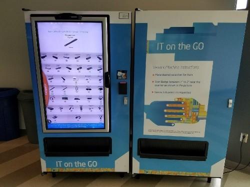 Intel's R&D center has a touchscreen vending machine that dispenses computer parts