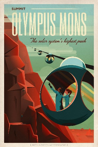 SpaceX made some awesome travel posters for Mars