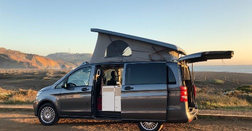 Modular camper van sleeps a family and fits in a garage