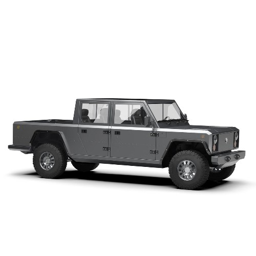 Bollinger Motors teases a rugged electric pickup truck with 200 miles of range