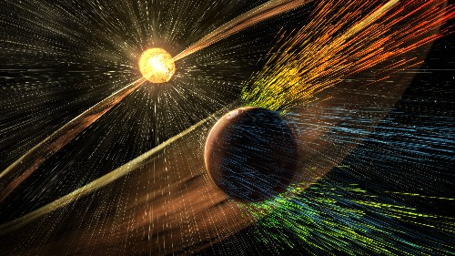 The Sun has stripped away Mars' atmosphere, causing global climate change