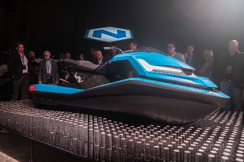 The Nikola Wav is an electric watercraft with a 4K display and cruise control