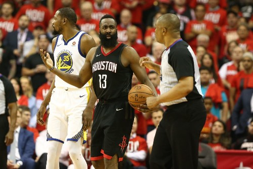 Warrior Wonder: Kevin Durant rips page out of Harden's play book, beats him with it