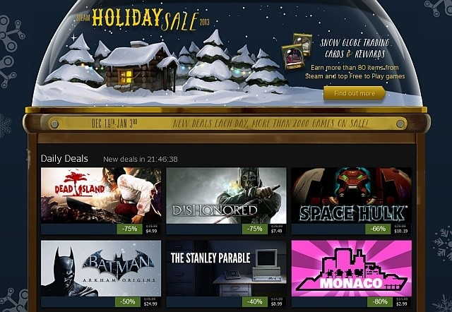Valve kicks off Steam Holiday Sale with 75 percent off 'Dishonored' and 'Bioshock Infinite'