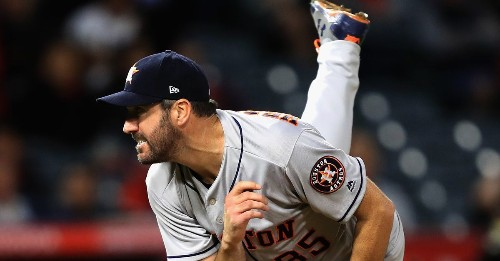 Justin Verlander threw a shutout and hit a milestone