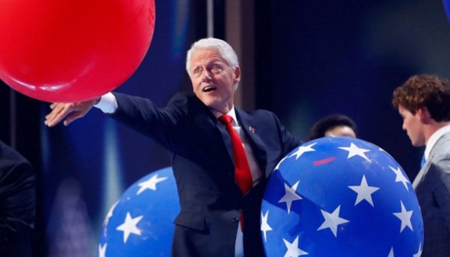 Bill Clinton loves balloons more than anything