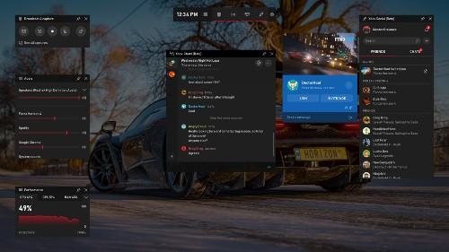 Microsoft brings Spotify and useful widgets to its Xbox Game Bar on Windows 10