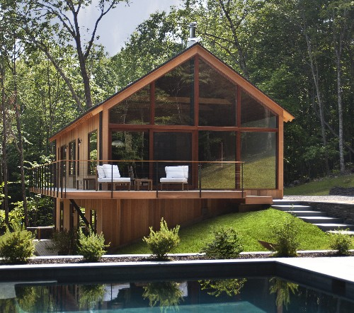 Modern cabin in the Hudson Valley asks $1.2M
